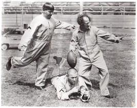 3 Stooges Football  Moe Larry Curly Vintage 5X7 BW TV Memorabilia Photo - $3.95