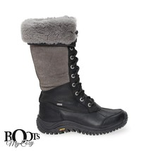 UGG ADIRONDACK TALL BLACK eVENT WATERPROOF SHEEPSKIN BOOTS SIZE US 7 NEW - $197.99