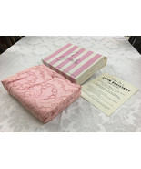 "Vintage Scranton Pink Lace Banquet Tablecloth Aiba 70"" x 102"" New In Box  - $54.99"