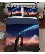 3D Meteor Mountain Couple C322 Japan Anime Bed Quilt Duvet Cover Double Zoe - $94.04+