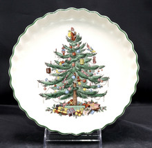 """Spode Christmas Tree * QUICHE DISH / BAKER * 8 7/8"""", Oven to Table, Engl... - $24.74"""