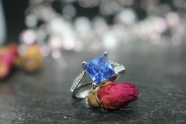 Blue Ocean Mermaid Seduction Spell !!!  925 Silver Ring SZ 8 - $37.08