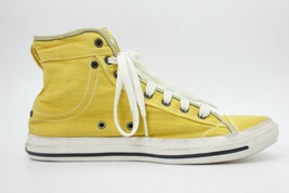 DIESEL Womens Net Met W High Top Sneakers Yellow Green Size 9 NEW AUTHEN... - $47.49