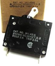 LOT OF 5 NIB HEINEMANN 2.5 AMP JA1-A3-A  Circuit Breaker 250VAC 50/60HZ T.D.3 image 1
