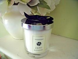 NEW Huntington Home LIME BASIL MANDARIN CANDLE Bougie Parfume Chrome Lid... - $16.40