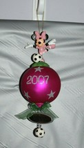 Disney Minnie Mouse Soccer Mommy Christmas Ball Christmas Holiday Tree Ornament  - $24.74