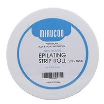 "Mirucoo Non-woven Wax Strip Roll for Body and Facial Hair Removal, 2.75"" x 100 Y"