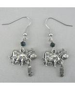 Moo Cow Silver Pewter Dangle Earrings - $10.95