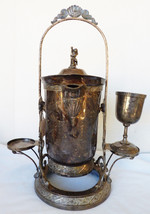 Antique Victorian Pelton Bros Silverplate Tipping Ice Water Pitcher Pot ... - $495.00