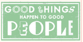 Rustic Wood Sign - Good Things Happen To Good.....Size 10 x 24 - Item 69... - $38.00
