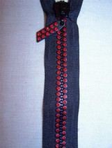 Genuine Swarovski 20 INCH or 50 cm Light Siam Red Crystal Separating Zipper - $40.00