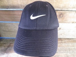 NIKE Dr-Fit Black White Fitted One Size Adult Cap Hat - $12.86