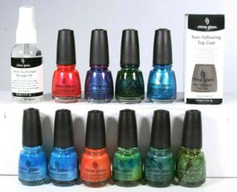 China Glaze Nail Polish 12 Mixed Color & Treatment Full Size Collection ... - €26,90 EUR