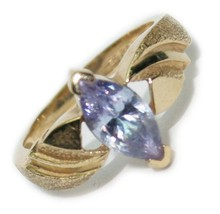 10k Yellow Gold Ring with a Lavender Marquise Cubic Zerconia - Size 5 - $125.00