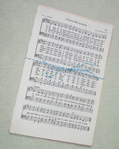 Vintage Hymnal Music Paper - 35 Sheets - Ephemera for Collage, Altered Art - $3.99