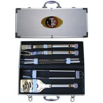 florida state seminoles 8 pc tailgater stainless steel bbq set w/ metal ... - $126.34