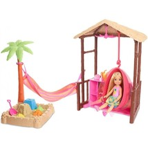 Barbie Chelsea Doll Tiki Hut Set w/ Moldable Sand Officially Licensed NI... - $28.99