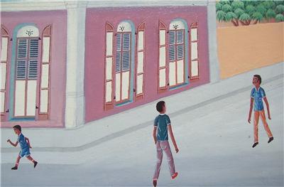 Original Pierre Antoine Cap Haitien, Haiti Art Painting in the style of Philome