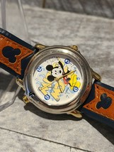 Lorus Disney Mickey Mouse Melody Watch in Silver Tone Case/2-Tone leathe... - $150.00