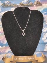 Women Religious Fashion Silver Plated Star of David Pendant & Chain Neck... - $9.99