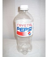 CRYSTAL CLEAR PEPSI LIMITED EDITION RETRO 90S OPENED 20OZ BOTTLE EMPTY LTD - $5.94