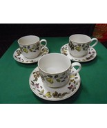 "Beautiful Collectible EVESHAM ""Mid Winter""Staffordshire England 3 CUPS & SAUCERS - $17.04"