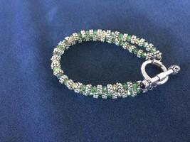 ELYSE RYAN Swarovski Crystal Sterling Silver Double Strand Bracelet Togg... - $95.00