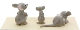 Hagen-Renaker Miniature Ceramic Mouse Figurine 3 Piece Family Set image 4