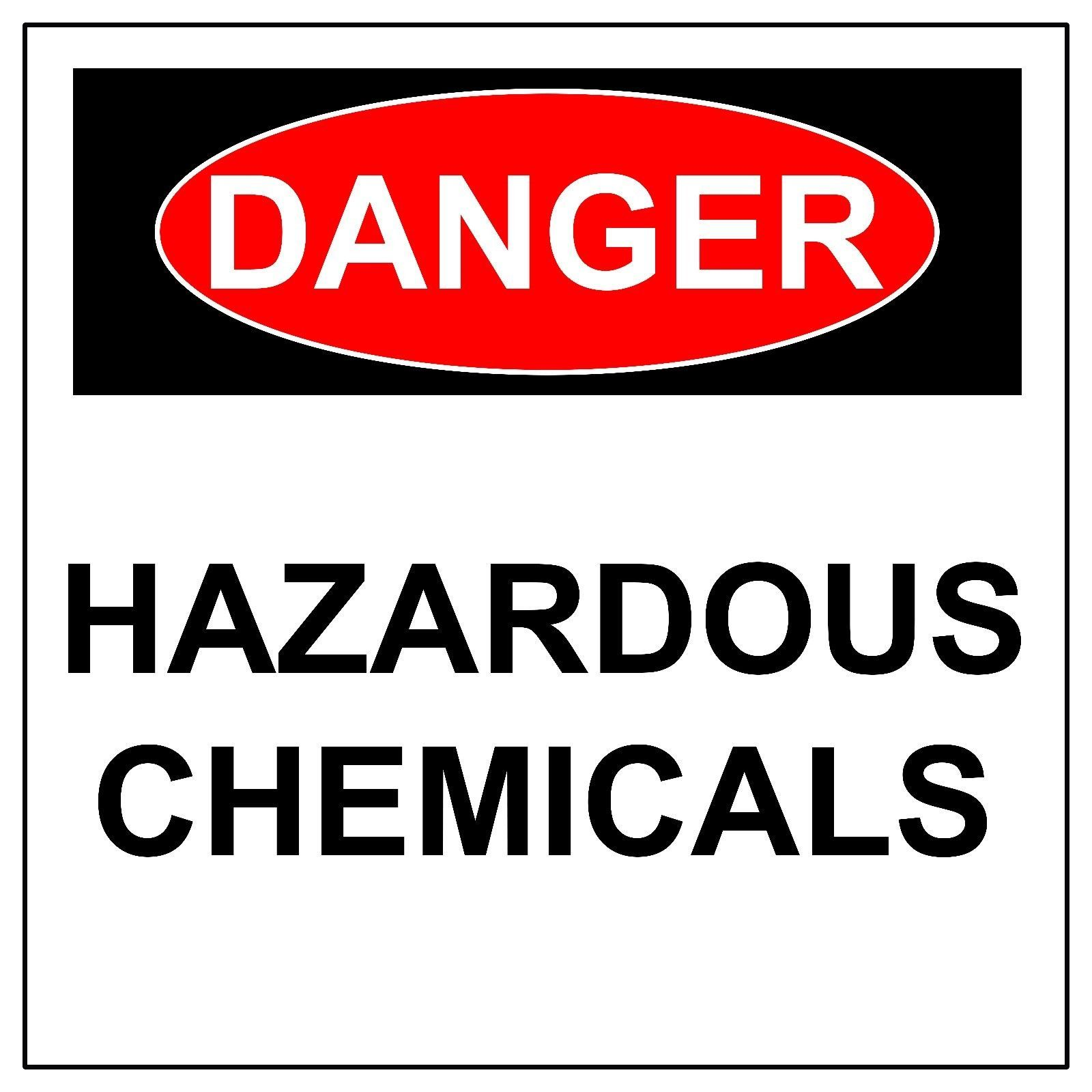 Danger Hazardous Chemicals Sign,  Aluminum Metal Safety Warning UV Print Signs