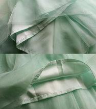 MINT GREEN Full Tulle Skirt Women High Waist Green Wedding Tulle Skirt Plus Size image 7
