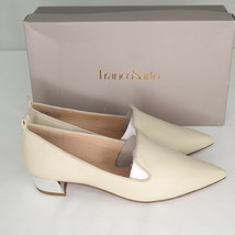Franco Sarto Vianna Loafers Sz 9.5 Womens Ivory Leather Pointed Toe Shoes - $43.20