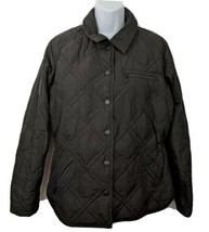 Eddie Bauer Goose Down Fill Quilted Black Jacket Womens Size M - $49.49