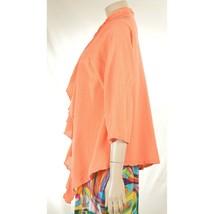 Oh My Gauge jacket cover open OS orange sherbet long sleeve ruffle front hi lo image 2