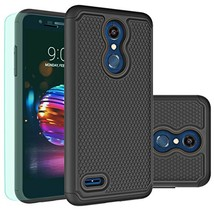 LG K30 Case,LG K10 2018 Case with HD Screen Protector Huness Durable (Bl... - $14.87