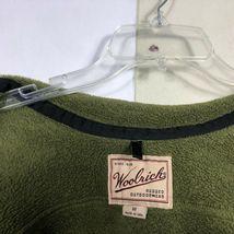WoolRich Fleece Jacket Men's Medium Olive Green Full Zip Thick Fleece image 5