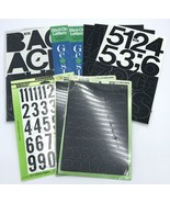 """3"""" Stick on Letters Numbers 1""""  Numbers Packs Black Helvetica Upper Case... - $19.99"""