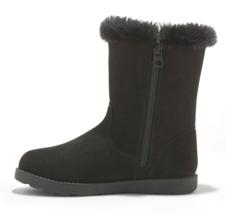 Cat & Jack Big Girls' Black Microsuede Hadlee Faux Shearling Fur Winter Boots image 2