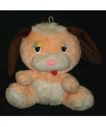 "11"" VINTAGE ATLANTA GERBER PEACH PUPPY DOG RAINBOW EYES STUFFED ANIMAL P... - $28.05"