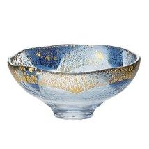 Tokyo Matcha Selection - Giyaman - Glass Matcha Bowl : Blue Gold - Japanese G... - $98.66