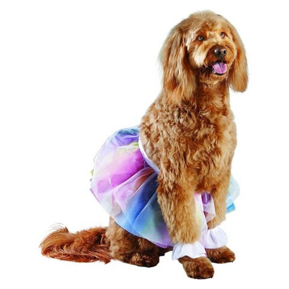 Rainbow Tutu Dog Costumes Sz S/M, L/XL NWT