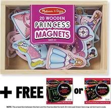 Princess Wooden 20 Magnets-in-a-Box Gift Set + FREE Melissa & Doug Scratch Art M - $14.60