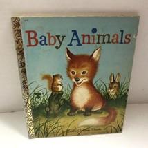 Vtg 1956 Little Golden Book Baby Animals LGB - $10.76