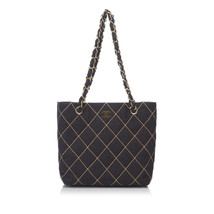 Pre-loved Chanel Gray Charcoal Wool Fabric Surpique Shoulder Bag Italy - €809,05 EUR