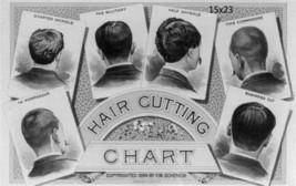 Herren Vintage Haare schneiden Chart Kunst Druck Plakat Salon Dekor 40.6cmx61cm - $17.32