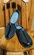 Easyspirit Black Slide On Clogs Nurse Shoes 9.5 M - $19.99