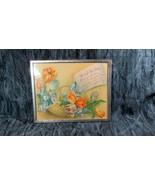 ca 1946 Chrome Self Framed Mother's Day Poem Above Basket Flowers - $12.19
