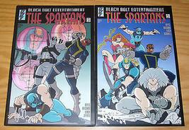 the Spartans #1-2 FN/VF complete series - black bolt comics  signed set ... - $9.25