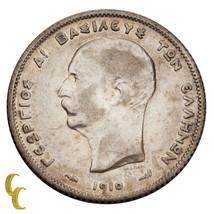 1910-A King George Greece Silver Drachma Paris Mint - $44.55