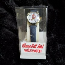 Vintage Campbell Kid Wristwatch Blue Band Swiss made Dated 1982 - $23.35