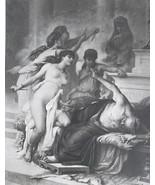 MYTHOLOGY Nude Pelias Killed by Daughters - Original Photogravure Print - $17.28